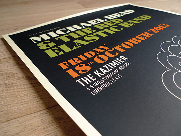 Affiche Michael Head - designed by Pascal Blua, printed by Dezzig