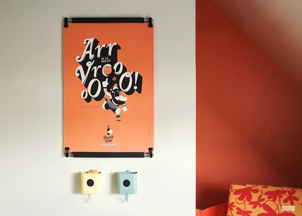 D coration murale affiches d 39 art graphique en s rigraphie for Decoration murale graphique