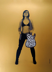 Affiche Dezzig Sex Drugs & Rock'n roll par Eric Collet - 2011