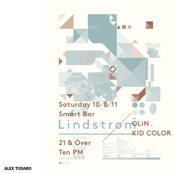 Affiche Lindstrøm with Olin & Kid Color par Alex Todaro