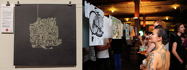 Poster party for bike people © ARTCRANK
