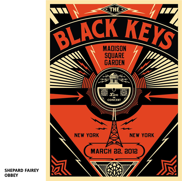 The Black Keys New York poster par Shepard Fairey - Obbey