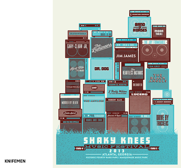 Shaky Knees Music par Knifemen