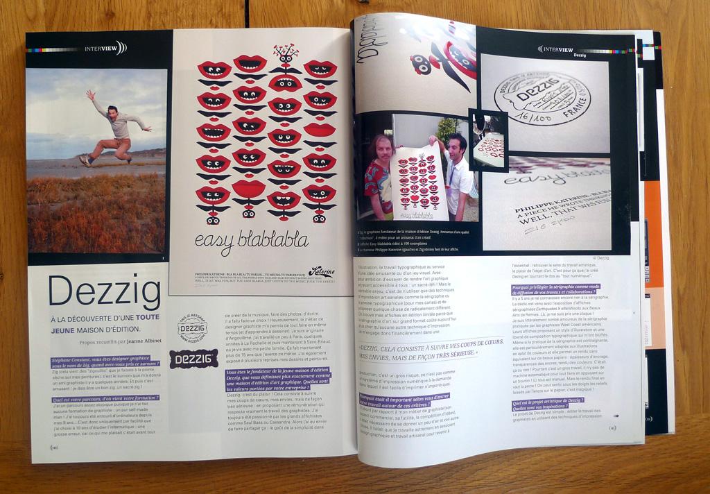 Bien connu Dezzig dans Graphisme magazine - Dezzig QB07