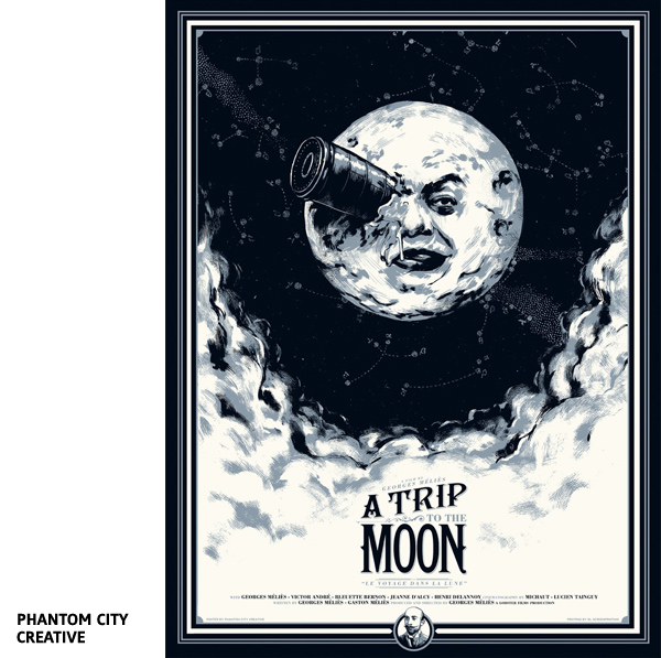A trip to the moon par Phantom City Creative