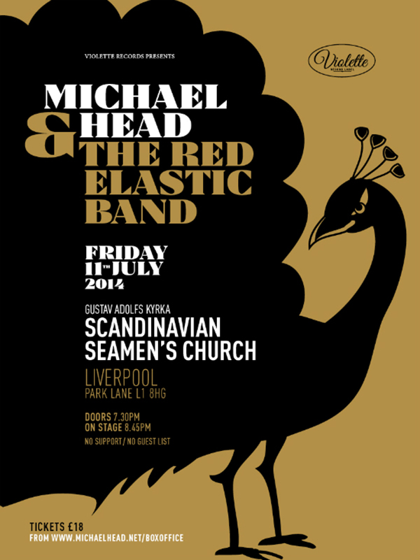 Michael Head & The Red Elastic Band poster by Pascal Blua