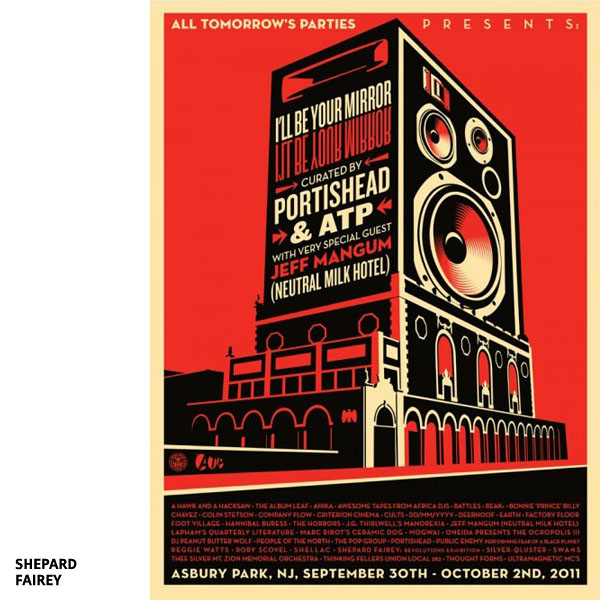 Affiche All Tomorrow's Parties par Shepard Fairey