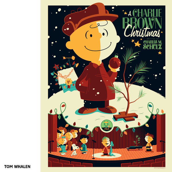 Affiche A Charlie Brown Christmas par Tom Whalen