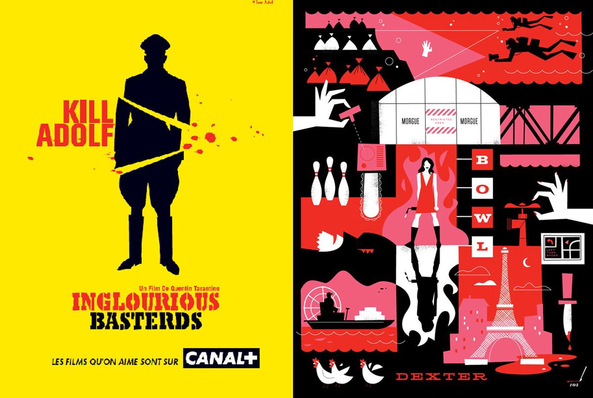 Affiches Canal+ Dexter