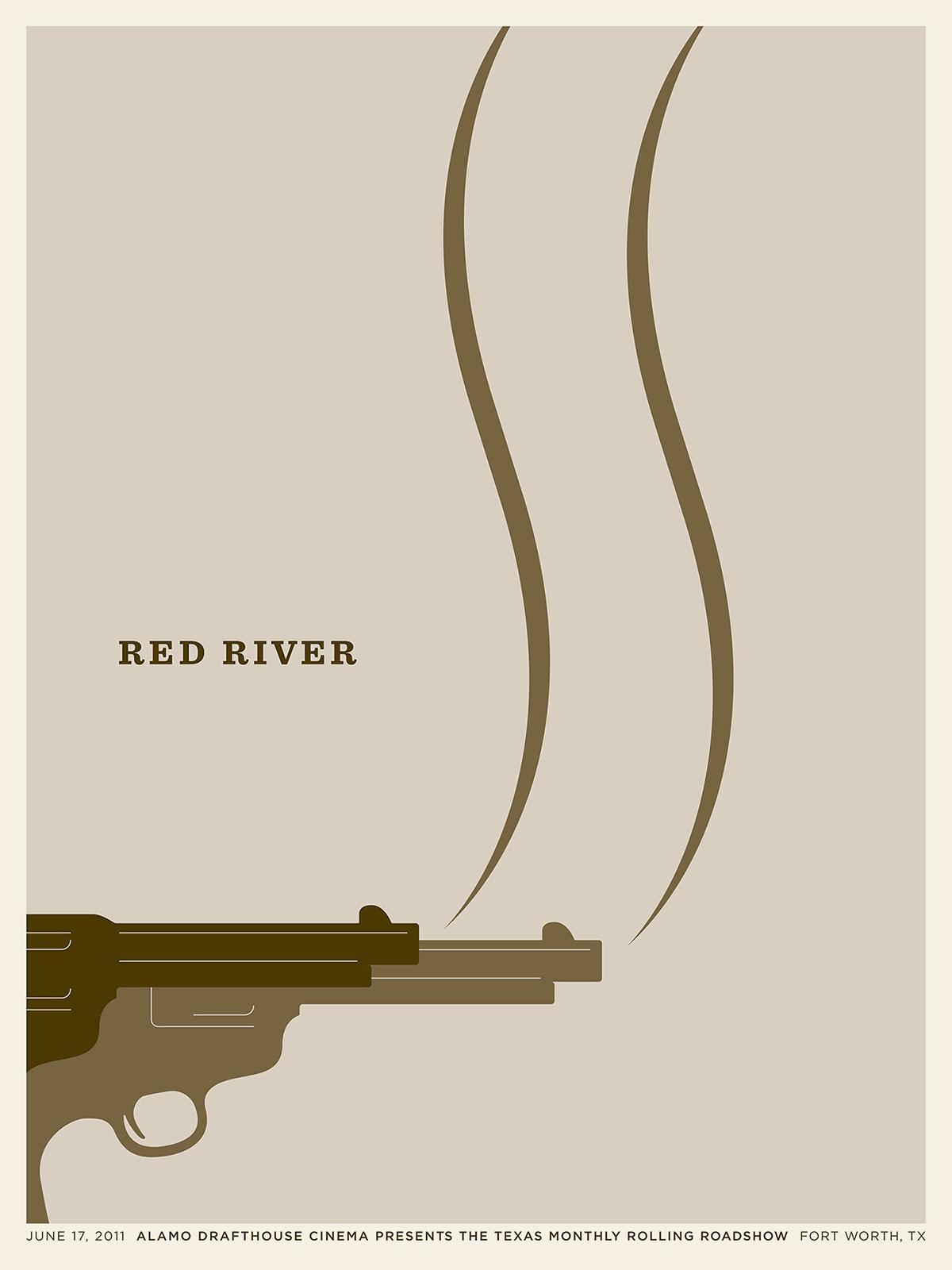 Affiche Red River par Jason Munn