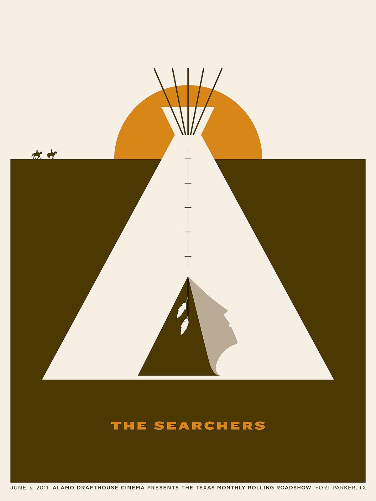 Affiche The Searchers par Jason Munn