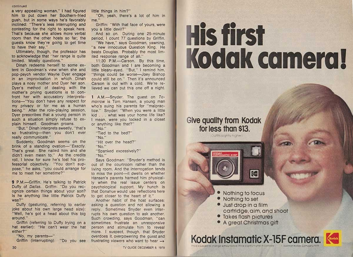 Publicité Kodak first camera