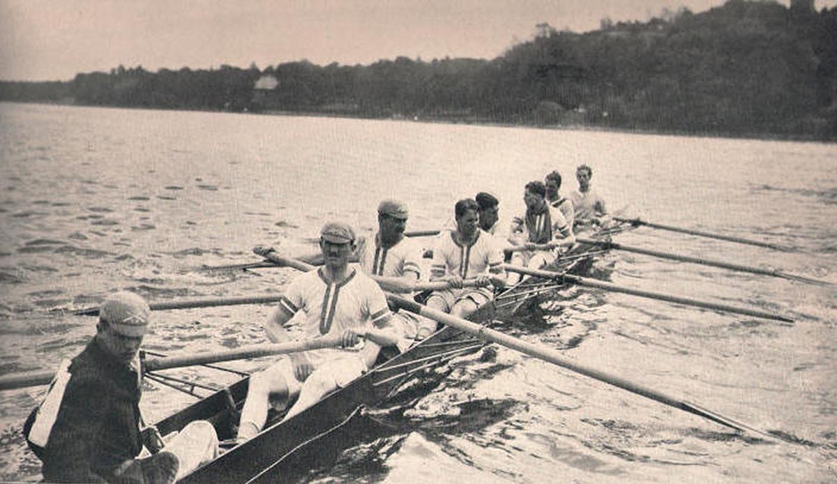 """Aux jeux olympiques de Stockholm en 1912, le """"Leander's eight"""""""