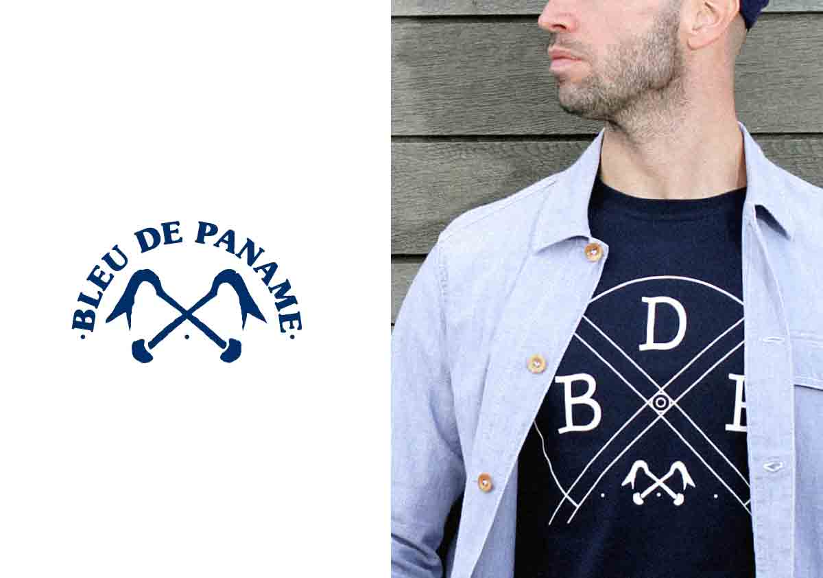 logo hipster mode bleu de paname