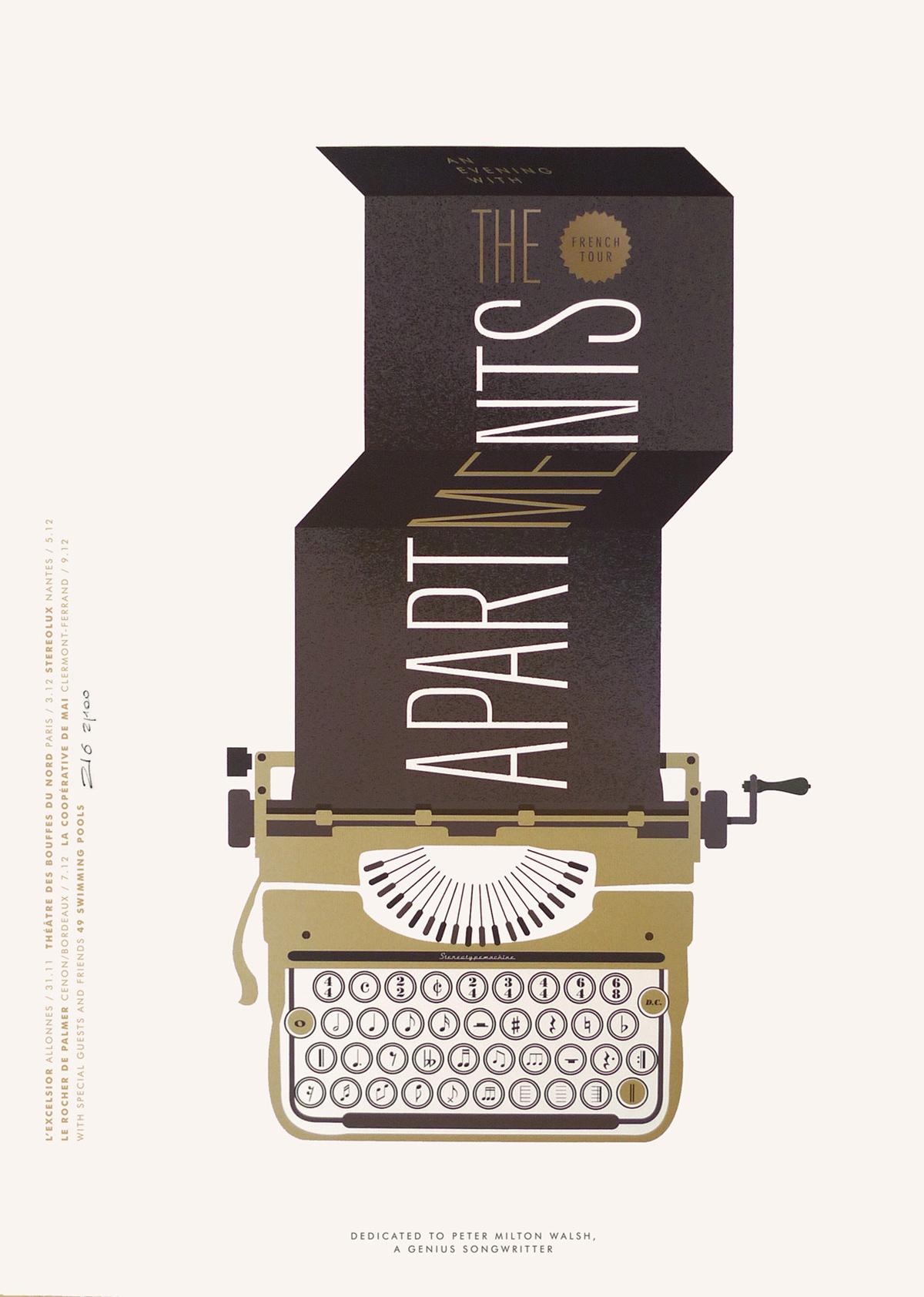 Affiche The Apartments par Zig & Pascal Blua - Dezzig