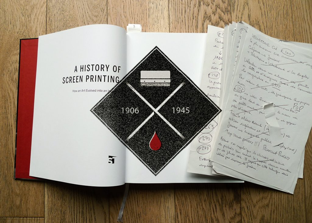 A history of screenprinting par Guido Lengwiler Photo © Dezzig