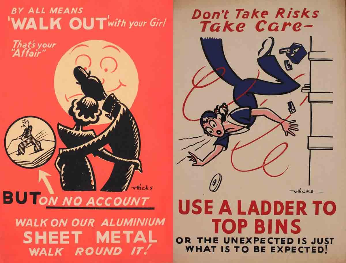 Victor Hicks, sérigraphie originale 2 couleurs, imprimée par Pendock Hicks