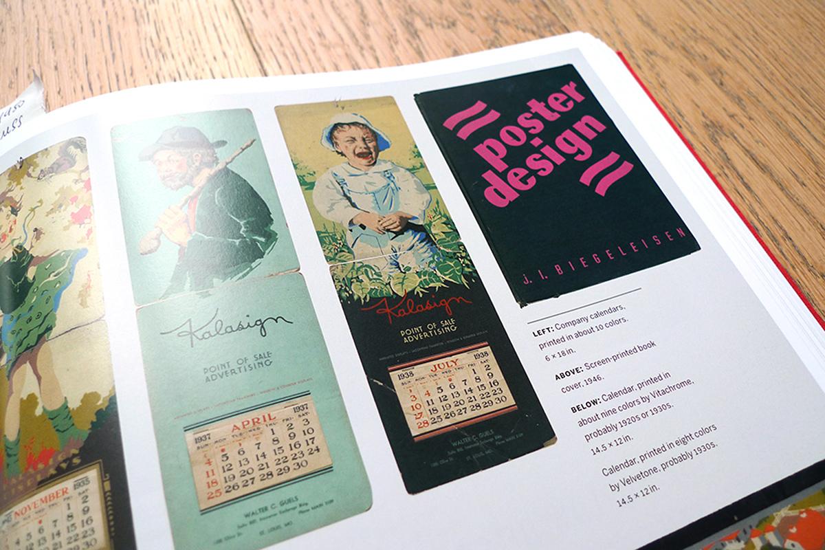 calendriers imprimées en sérigraphie par Vitachrome et Velvetone entre 1920 et 1930.