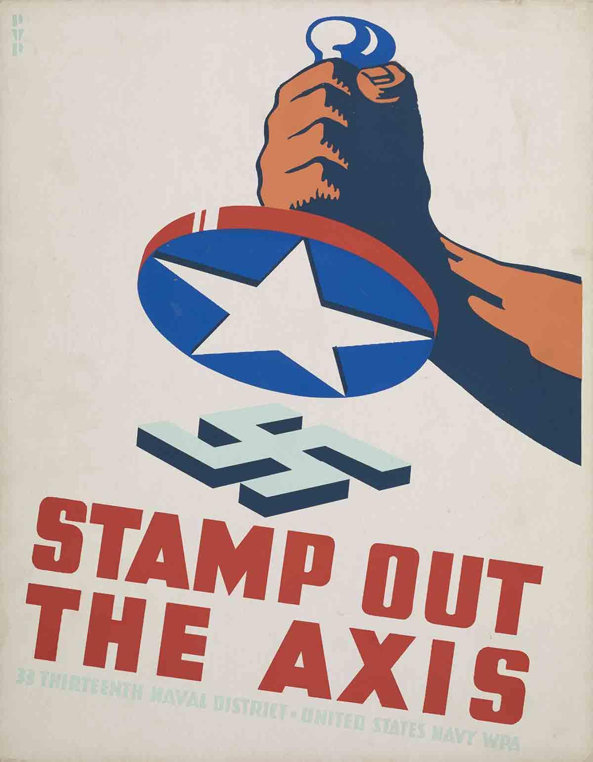 Affiche de propagande imprimée en sérigraphie par WPA Poster en 1941