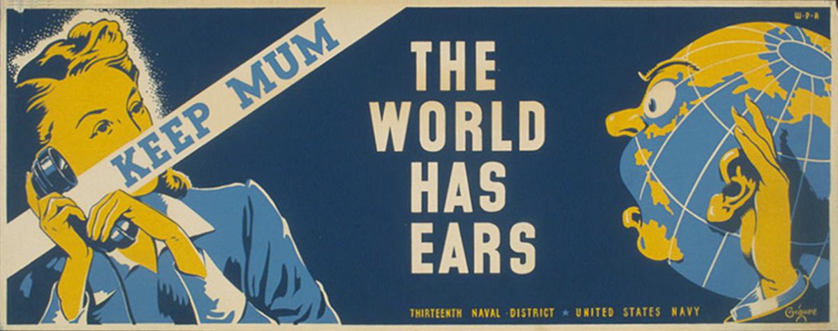 Affiche de propagande sérigraphie WPA Poster en 1941