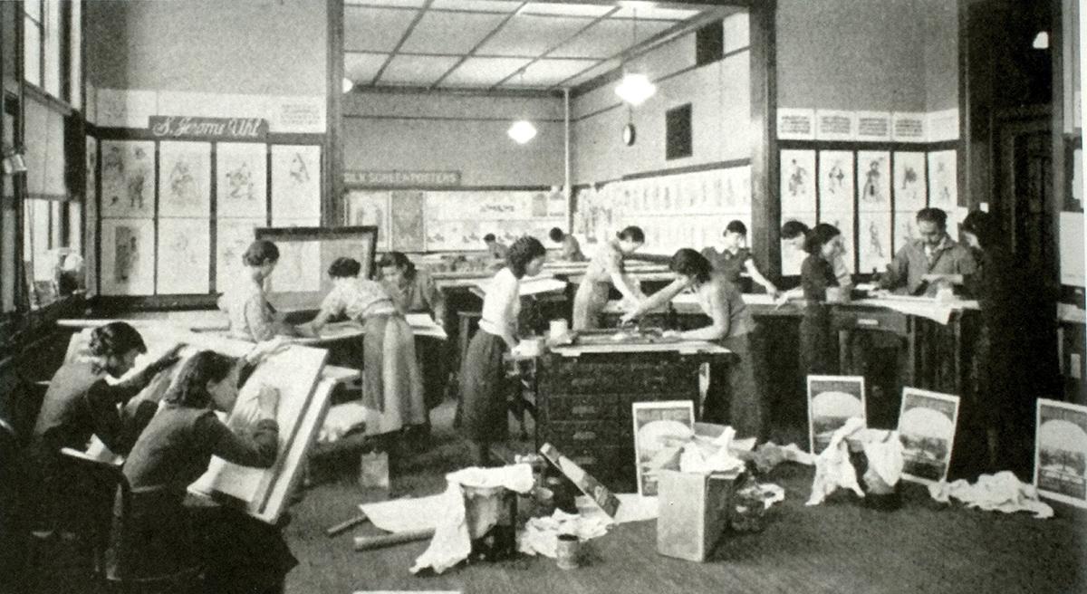 Les premières écoles de sérigraphie voient déjà le jour à New York en 1937.
