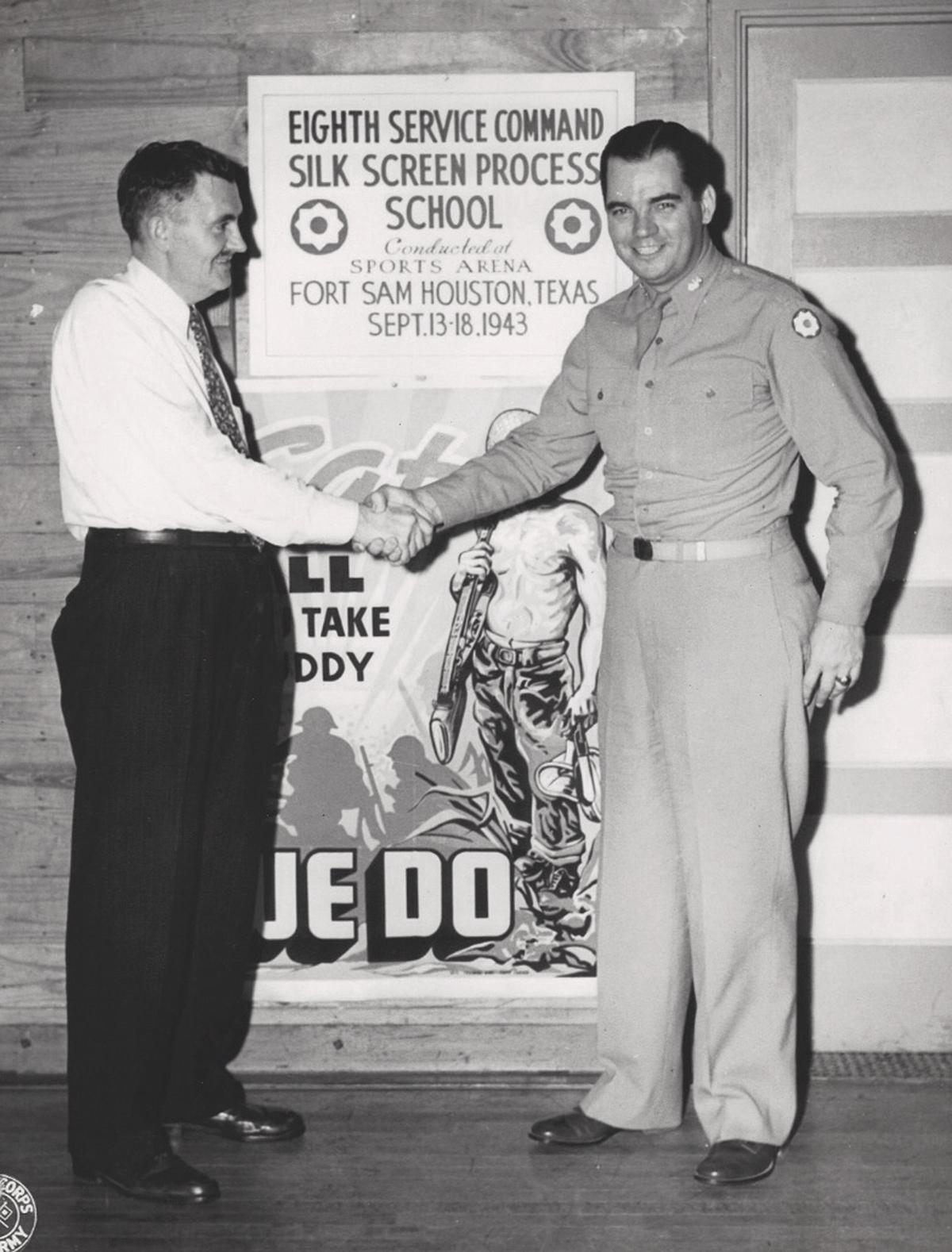 telier militaire de sérigraphie de Fort Sam Houston - USA 1943