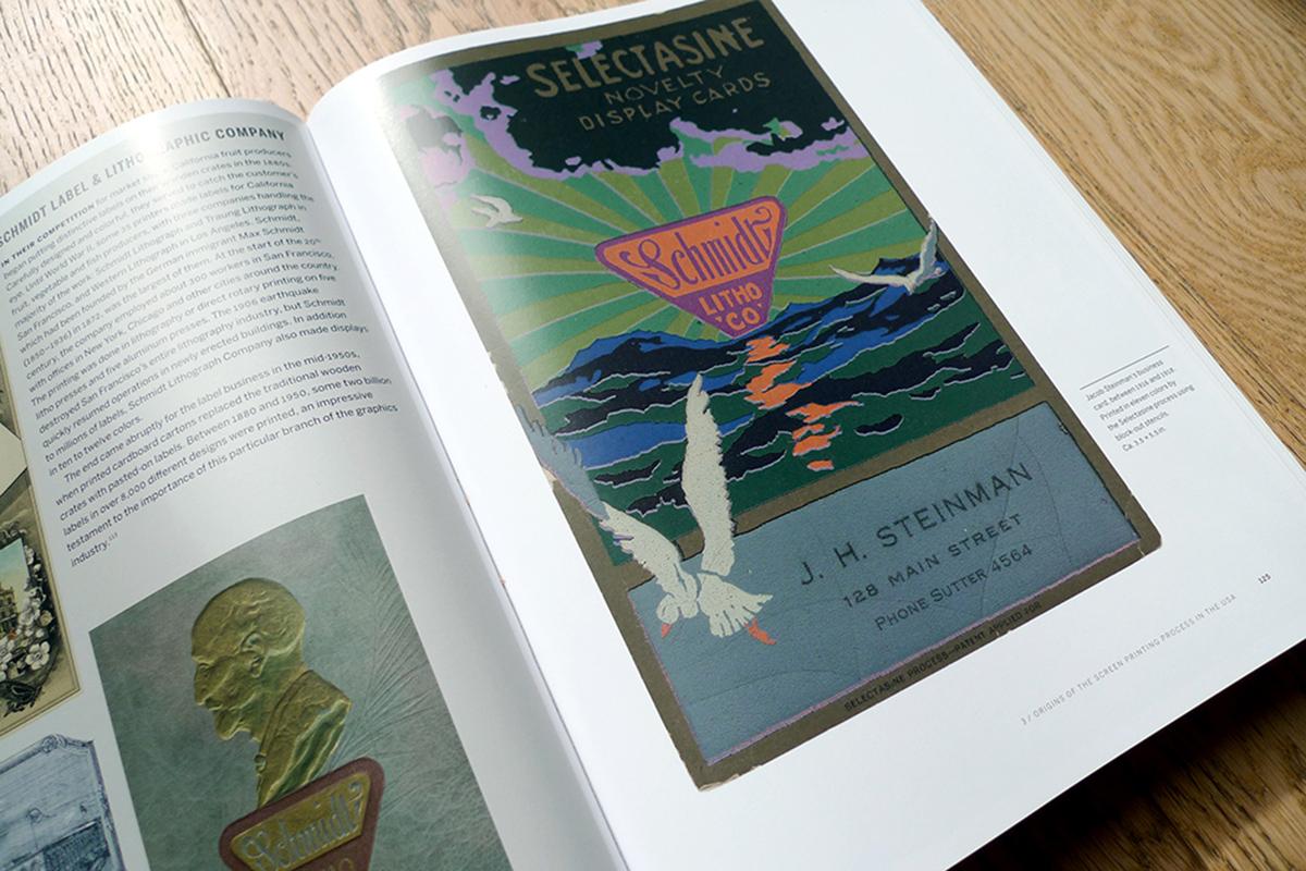 Carte de visite de Jacob Steinman imprimée en 11 couleurs à l'aide du procédé Selectasine (entre 1916 et 1918).