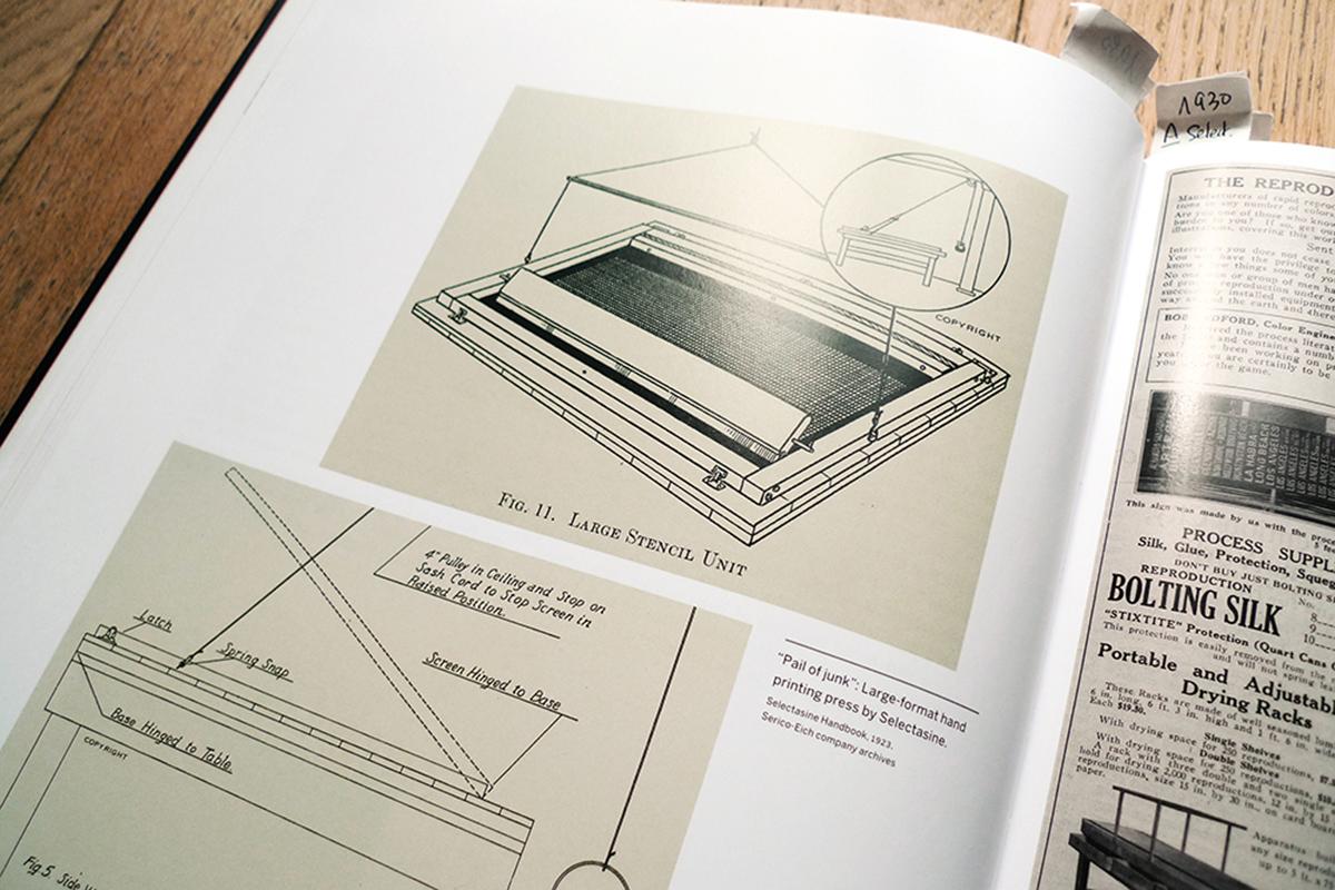 Châssis d'impression manuel par Selectasine en 1923 - archives Serico-Eich.