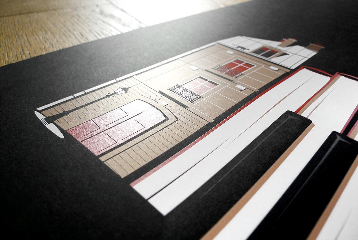 Impression en sérigraphie de la sérigraphie Apartments dans l'atelier Dezzig