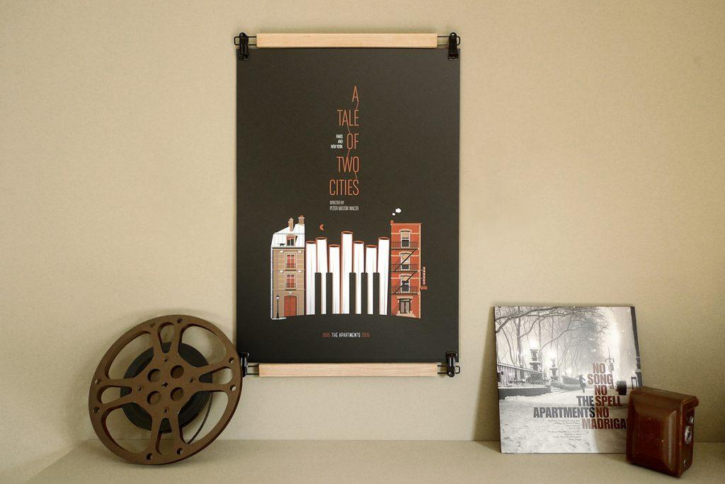 Affiche The Apartments 2015 par Zig + Blua imprimée par Dezzig