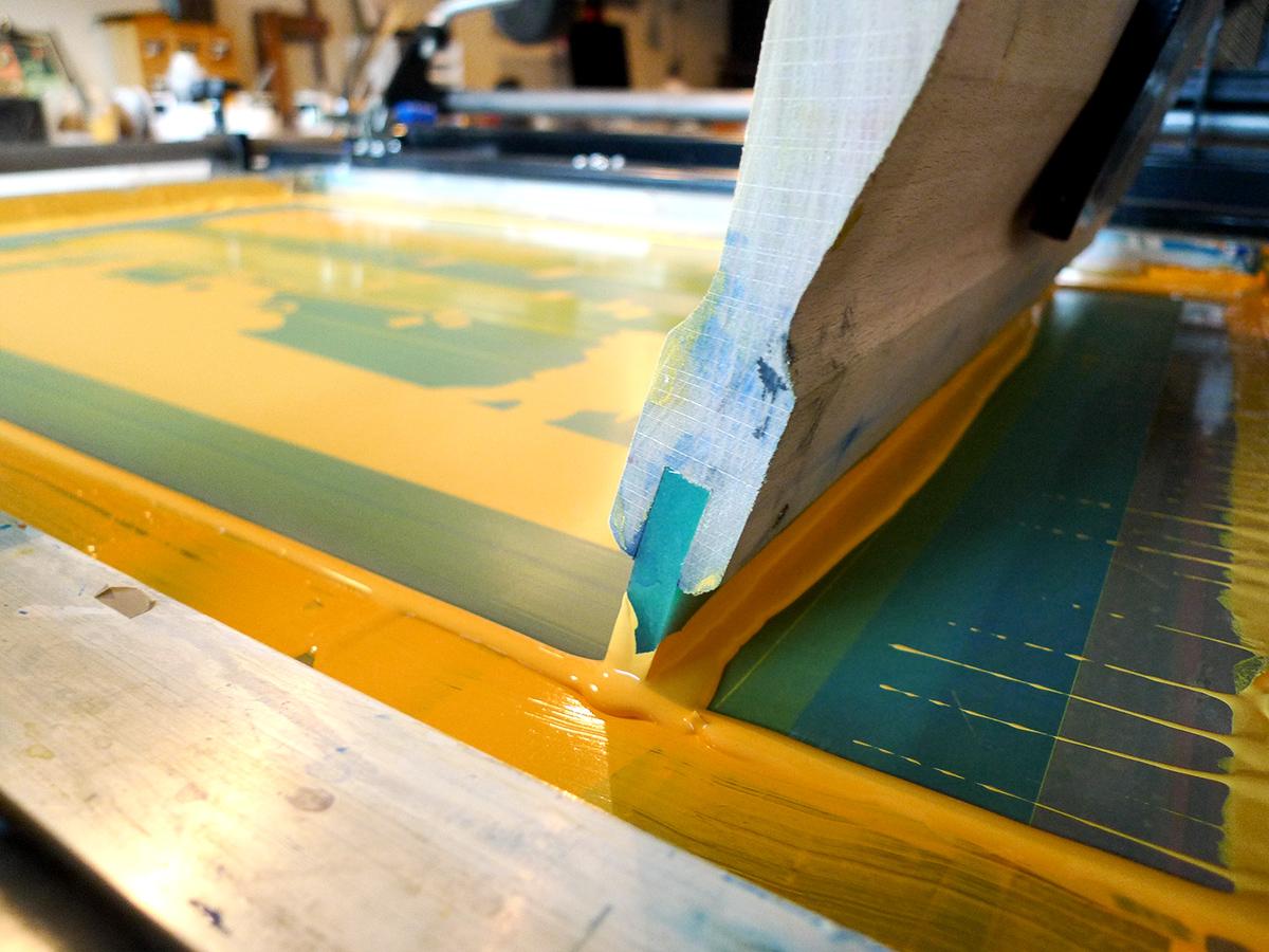 Sérigraphie d'art par Bezian Mondrian imprimée dans l'atelier Dezzig en Bretagne