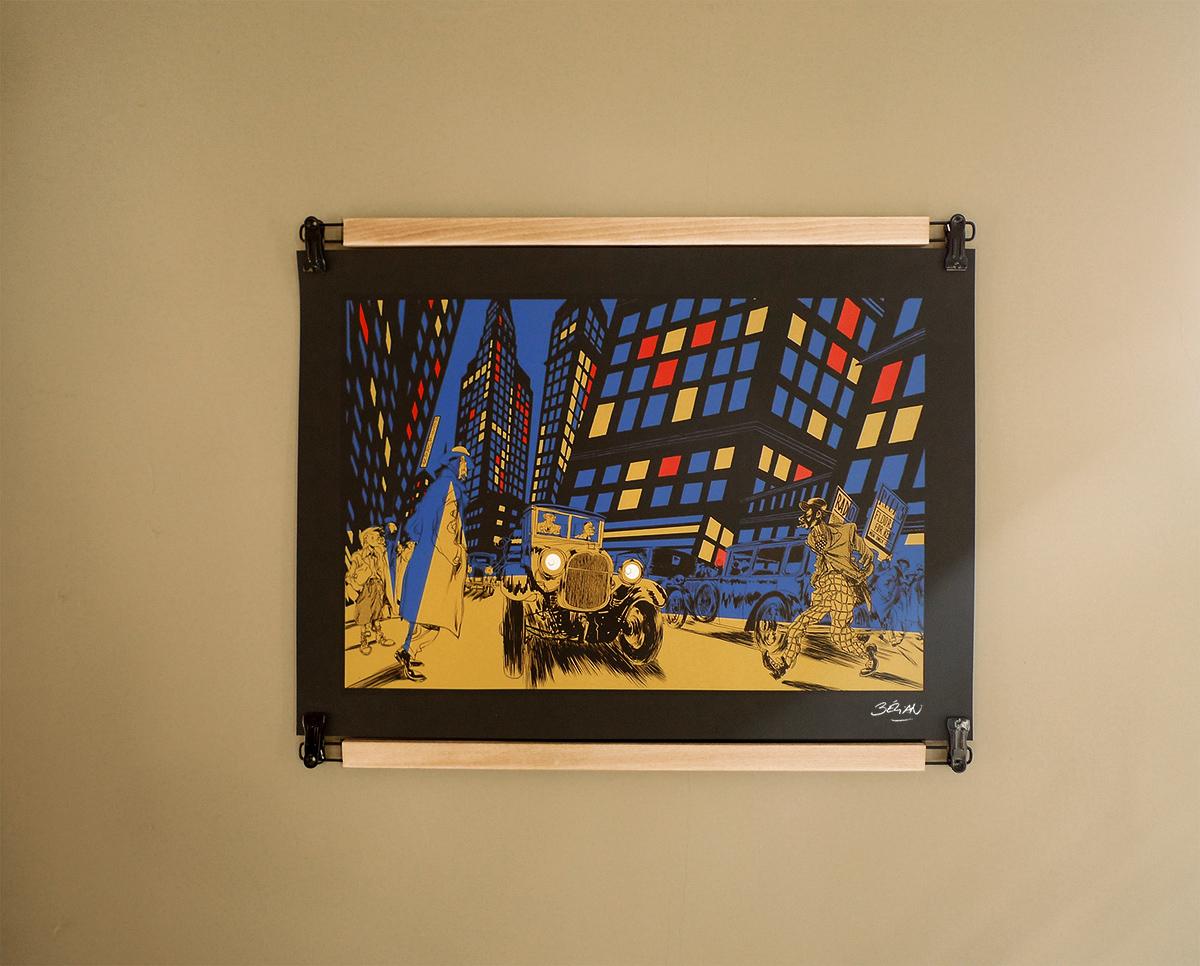 Sérigraphie d'art par Bezian hommage à Mondrian