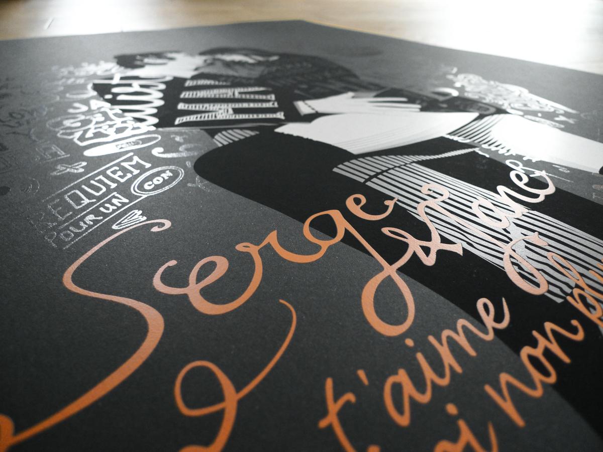 Sérigraphie Serge Gainsbourg Jane Birkin