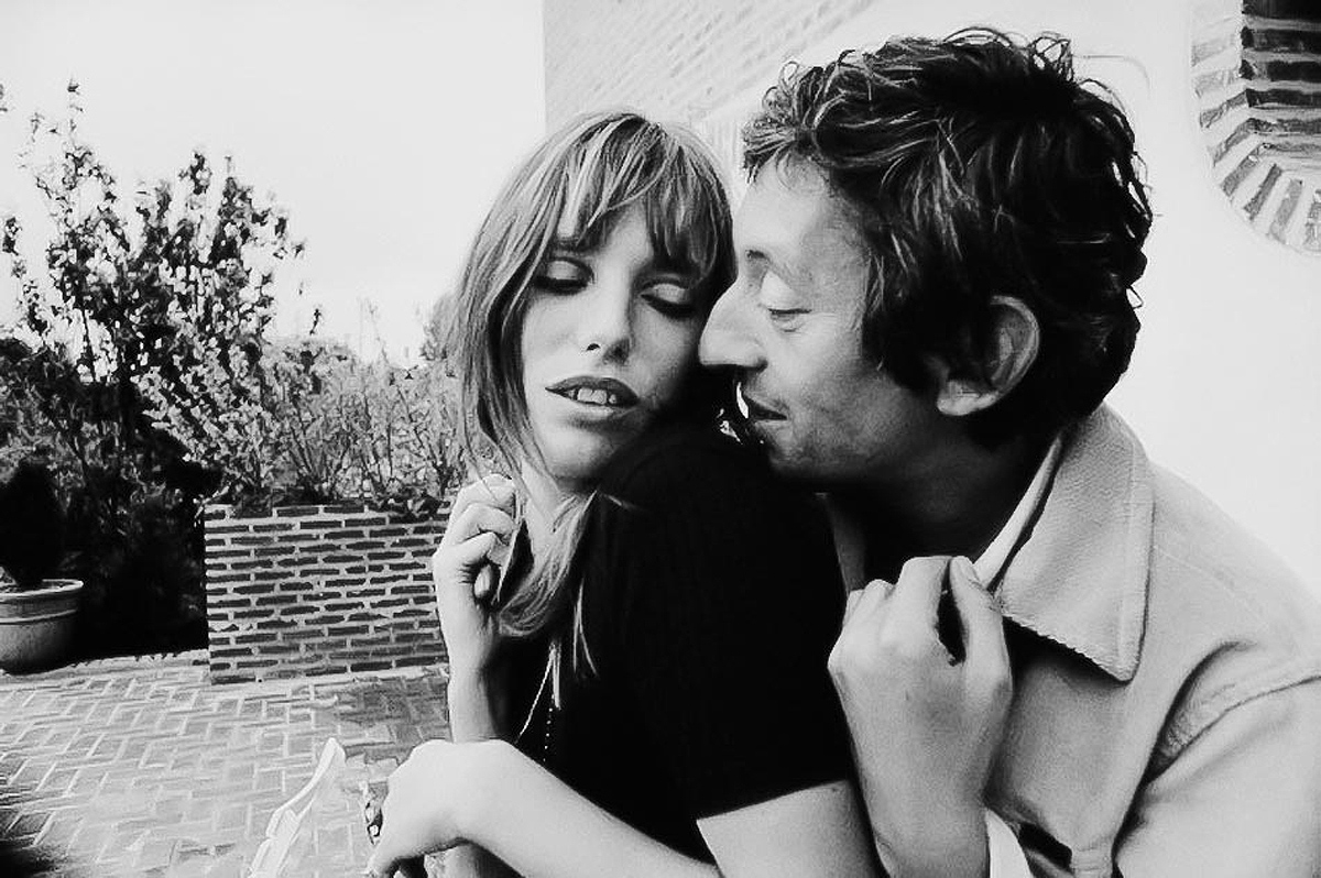 Serge Gainsbourg with Jane Birkin 1969 Tony Frank
