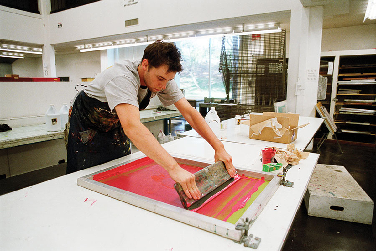 CalArts screenprint