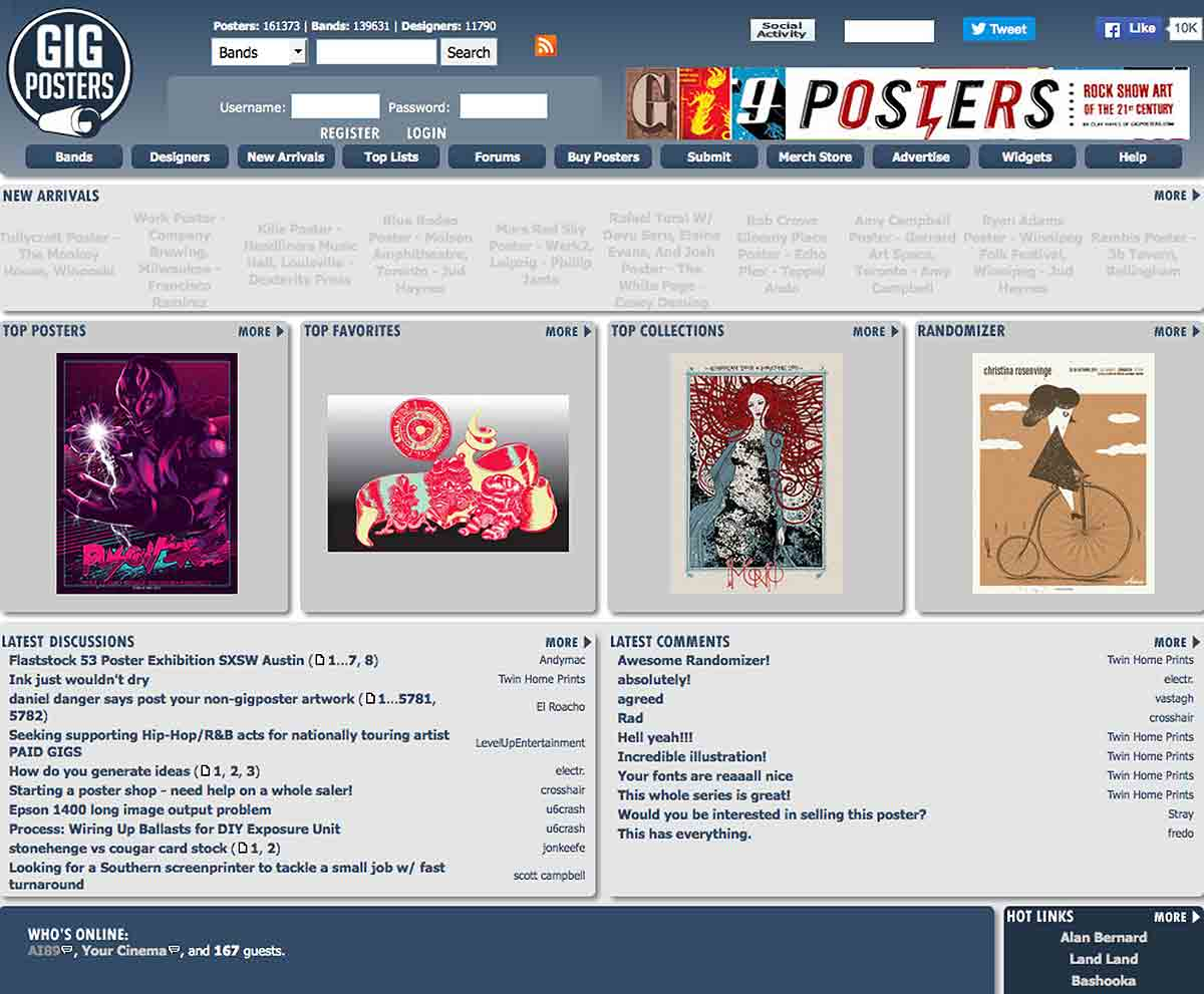 le site web gigposters website