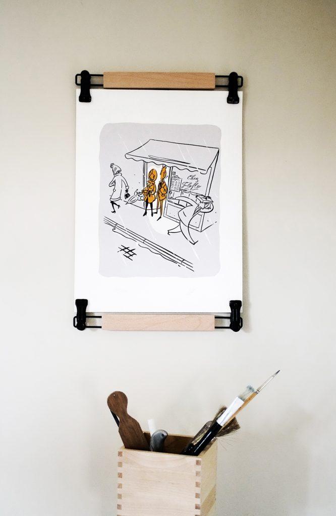 mini Poster-pant 30 cm - support pour affiche - accrochage mural