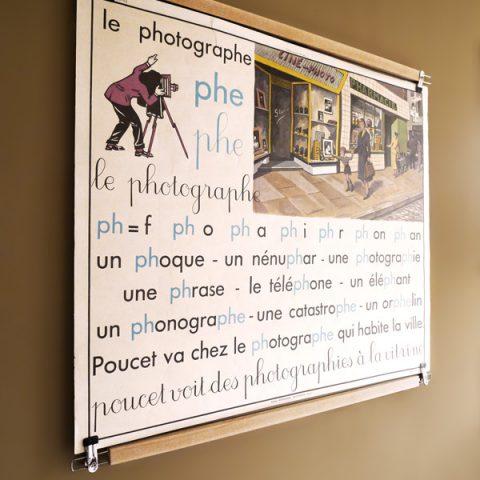 carte affiche Poster-pant école