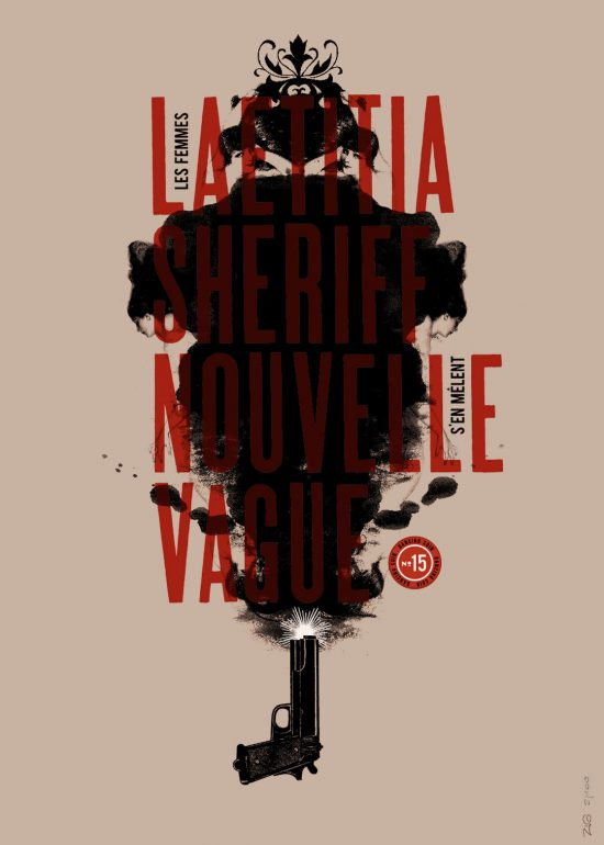 Sérigraphie Laetitia Sheriff + Nouvelle Vague