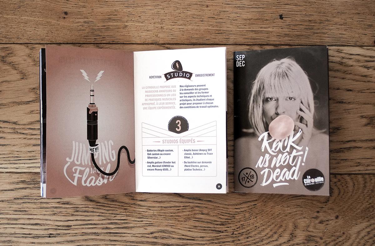Brochure 2017 de La Citrouille par Dezzig