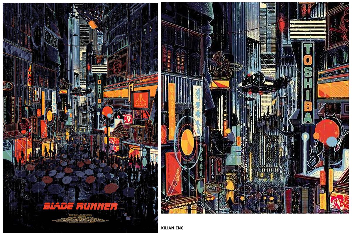 Sérigraphie Blade Runner par KILIAN ENG