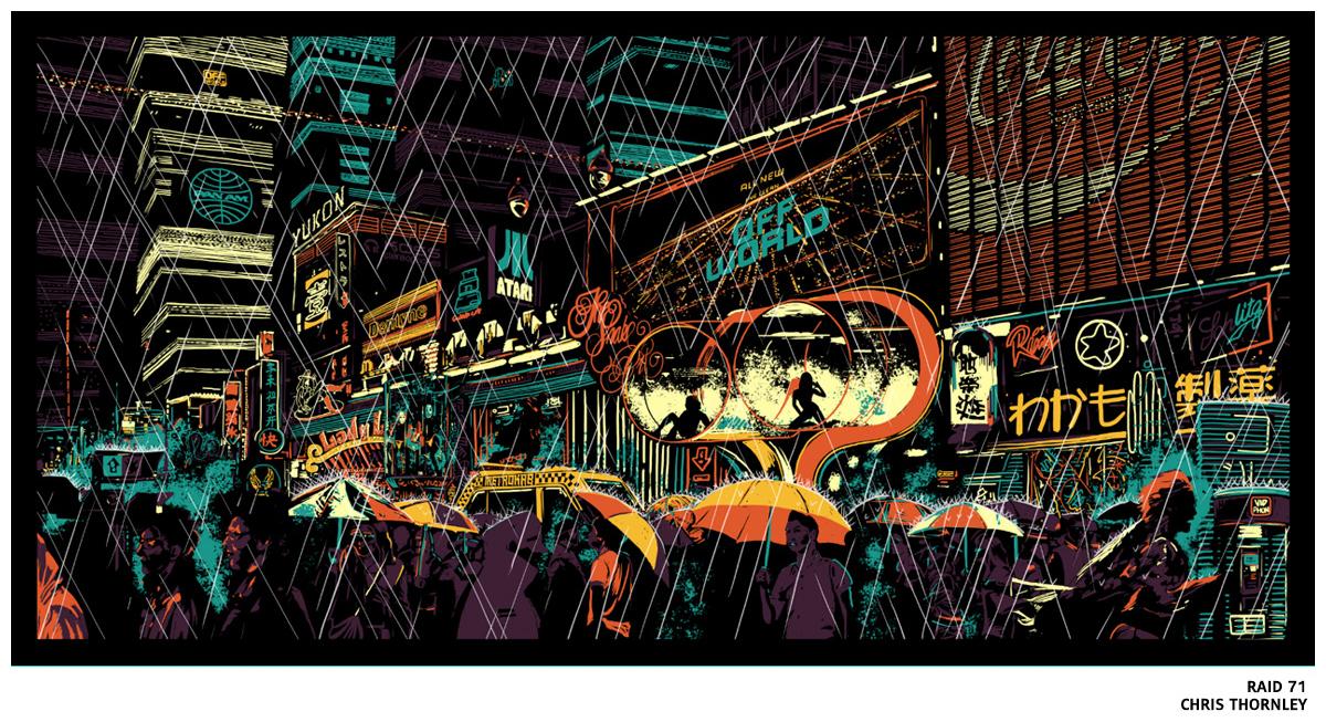 Sérigraphie Blade Runner par Raid71