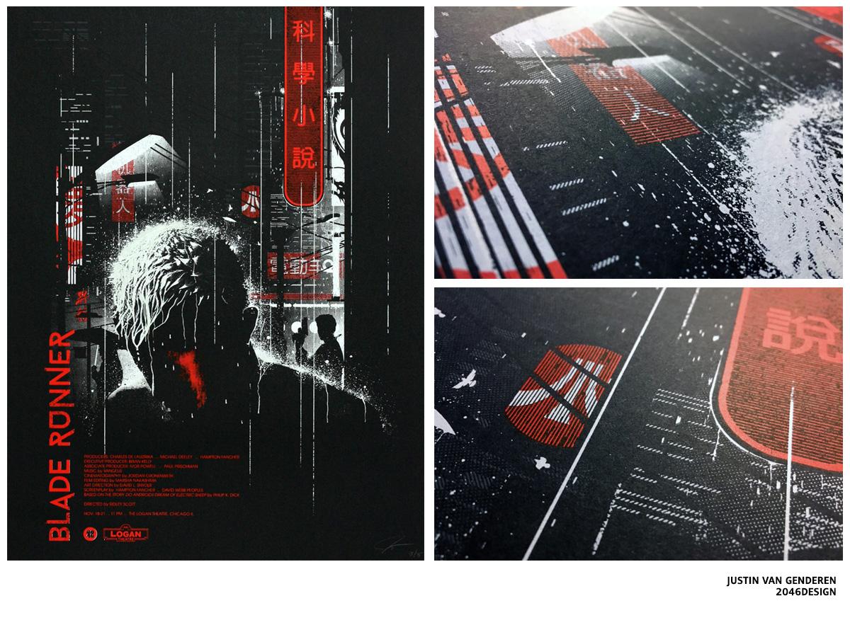 Sérigraphie Blade Runner par 2046DESIGN / JUSTIN VAN GENDEREN