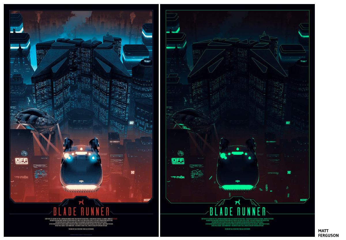 Blade Runner by Matt Ferguson Screen print