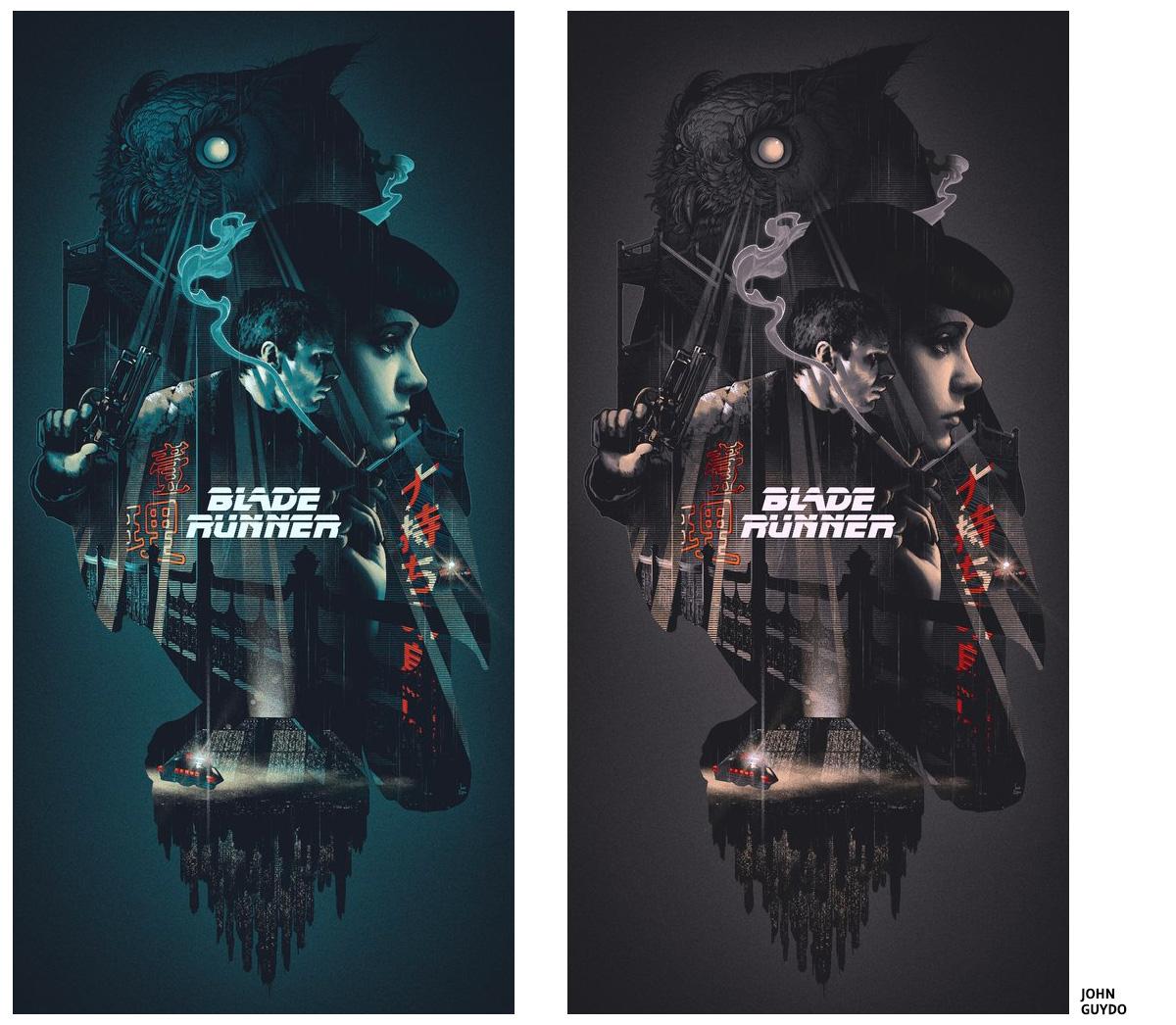 Blade Runner by John Guydo Screen print