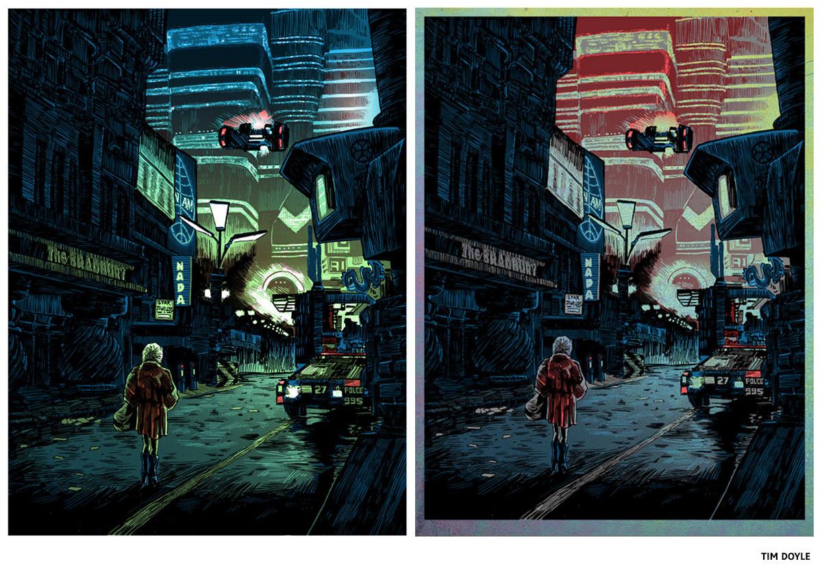 Sérigraphie Blade Runner par Tim Doyle