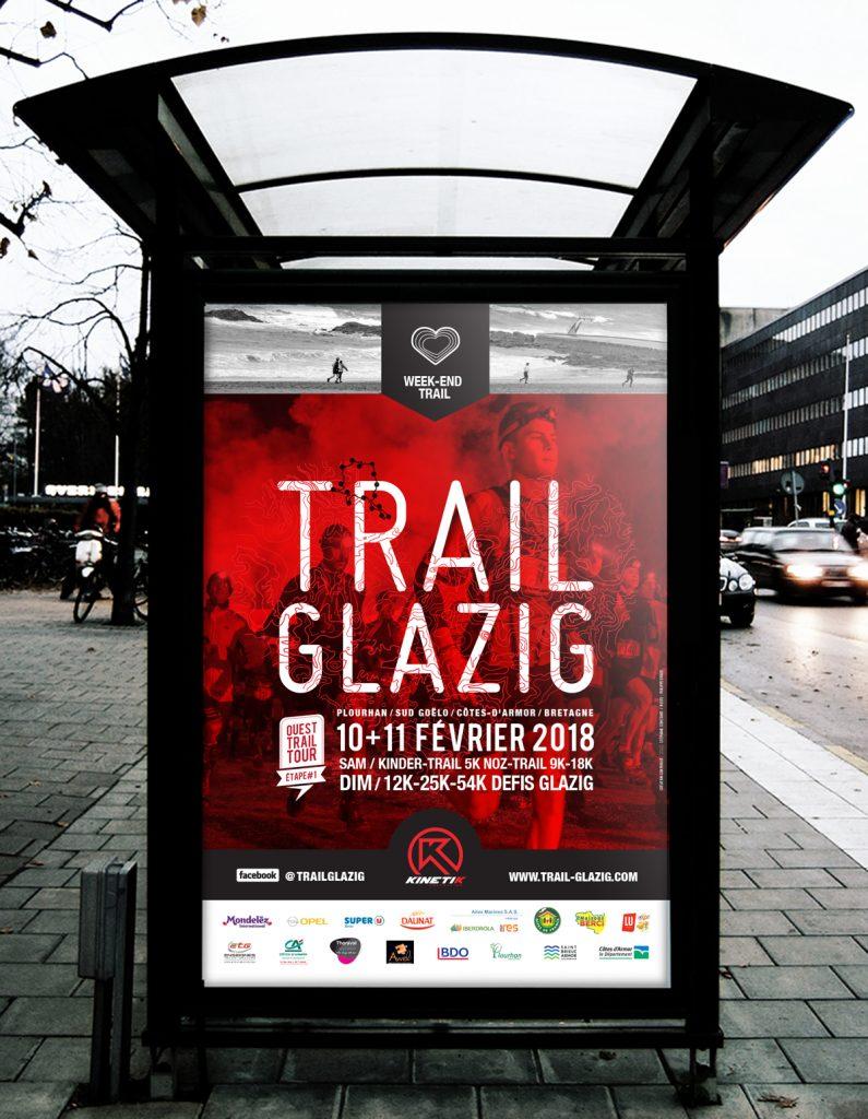 Affiche 2018 Trail Glazig par Dezzig