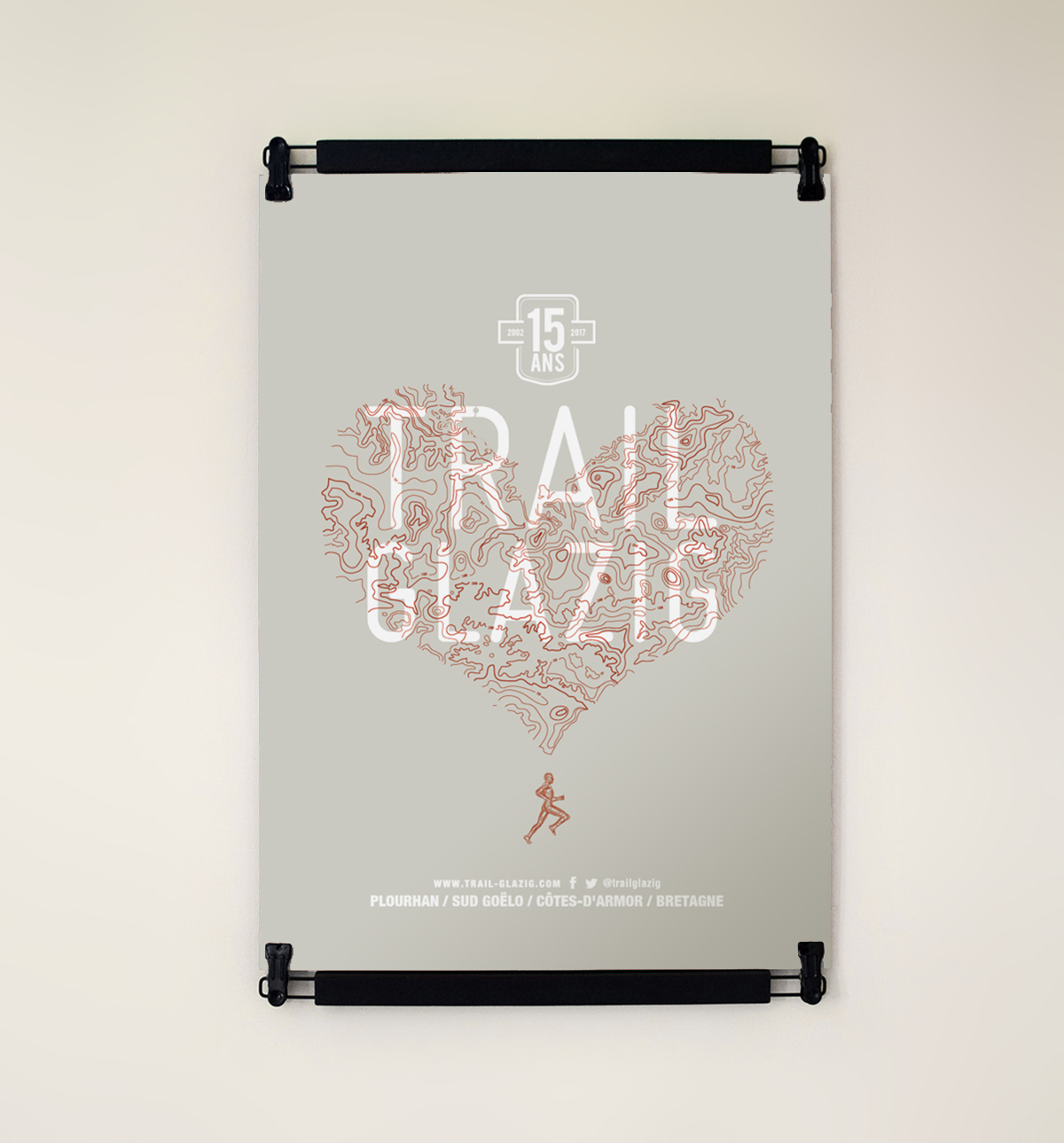 serigraphie Trail Glazig par Dezzig