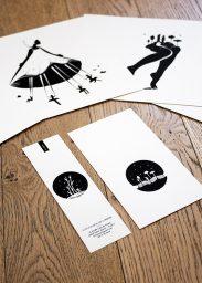 Sérigraphies tirées du livre Brin's de Vie par Betty Yon illustré par Stéphane Constant