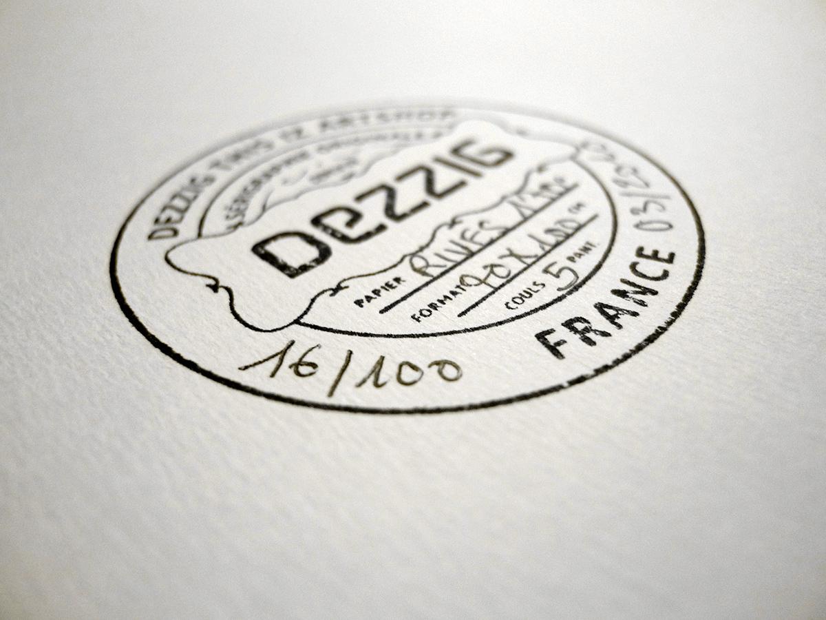 édition limitée imprimée en sérigraphie par Dezzig